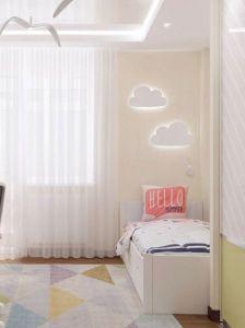 Лампи Дерев`яний настінний світильник в дитячу кімнату. Дизайнерська лампа у вигляді хмарки в дитячу. Ручна робота. Декор на стіни