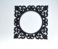 Деревянная рама ручной работы. Дизайнерская рама для зеркала в черном, золотом и других цветах. Резьба по дереву