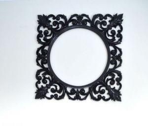 Зеркала ручной работы Деревянная рама ручной работы. Дизайнерская рама для зеркала в черном, золотом и других цветах. Резьба по дереву