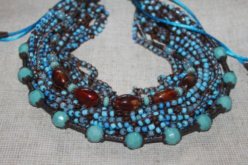 "Голубое ожерелье ""Янтарные берега"""
