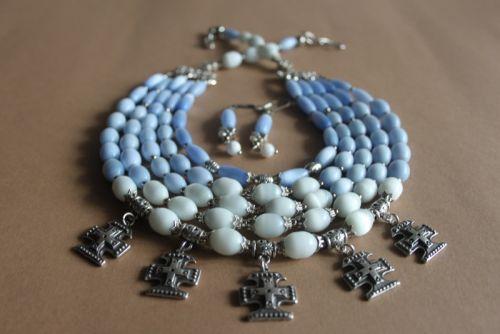 """Ожерелье многорядное """"Небеса ..."""""""