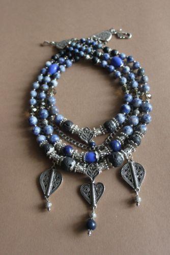 """Ожерелье из лазурита """"Сердце не камень"""""""