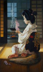 """Нарисованные картины """"Kitsune"""""""
