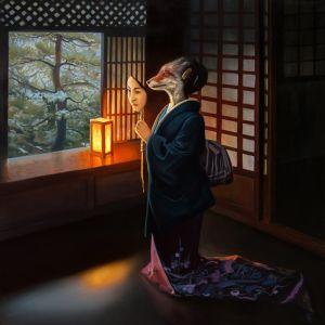 """Нарисованные картины """"Kicune"""""""
