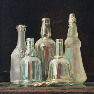 """Нарисованные картины """"White bottles"""""""