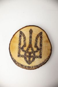 """Декор для дому Декоративний магнітик """"Герб"""", сувенір з українською символікою 01mgmg"""