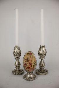 Костюк Эдуард Декоративный набор из интерьерного украшения и подсвечников, пасхальные украшения для дома