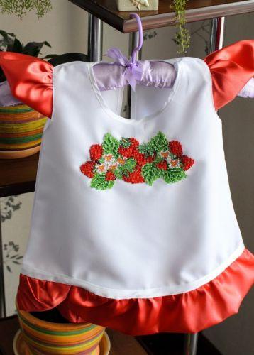 Платье для девочки Клубничный рай от 1 до 4 лет - изображение 1
