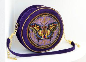 Замшевые сумки Сумка Полет бабочки