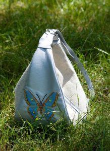 Сумки ручной работы Сумка-рюкзак Голубой баттерфляй