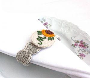 Декор для дома Именные кольца для салфеток Подсолнухи Подарок на новоселье