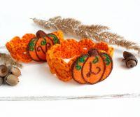 Персонализированные кольца для салфеток Осенний декор тыквы Подарок на новоселье
