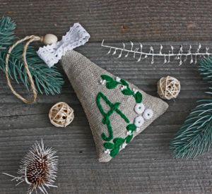 Разное Игрушка на елку Новогодняя елочная игрушка Подвеска на елку Новогодний декор Саше с лавандой эко скандинавский стиль