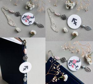 Аксессуары ручной работы Именная закладка для книг со знаком зодиака Оригинальный подарок на новый год для девушки