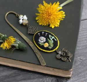 Разное Именная закладка для книг на заказ с вашей буквой Книжная закладка с натуральными камнями