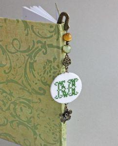 Різне Книжна закладка з намистинами Іменна закладка для щоденника