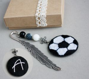 Разное Именная закладка для книг Мужская книжная закладка с камнями футбольный мяч