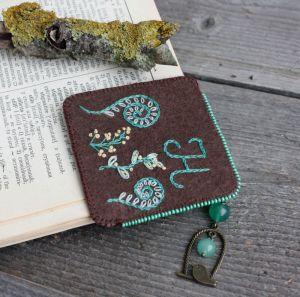 Разное Необычная закладка для книг с нефритом Именной подарок для девушки на 8 марта Подарок для мамы