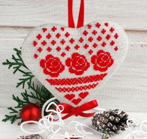 Разное Елочное украшение Красная подвеска на елку Новогодний декор в стиле эко, рустик