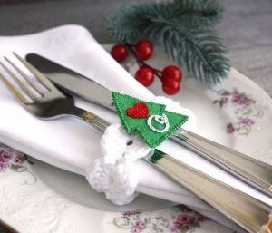 Разное Новогодние кольца для салфеток персонализированные