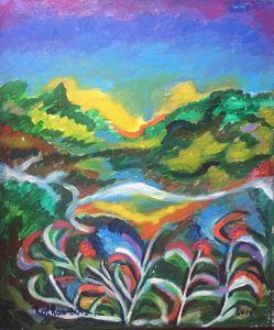 Картины графика Цветущее озеро