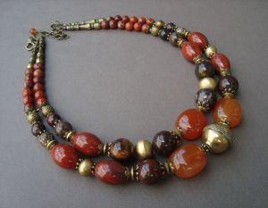 Ожерелье ручной работы Красная планета