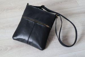 Мужские сумки ручной работы Сумка мужская кожаная планшет черная