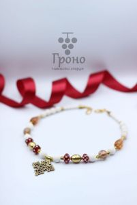 Ожерелье ручной работы Ожерелье коралловое Яблоневый цвет
