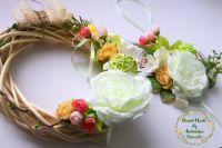 Пасхальный веночек и декор на корзинку