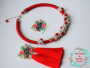 Jewelry sets Кольє-джгут та сережки-кисті