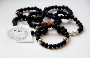 Чорний браслет Браслети з натурального каміння