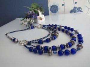 """Ожерелье из кошачьего глаза Ожерелье """"Синий водоворот"""""""