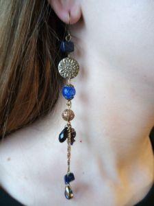 """Earrings Асиметричні сережки """"Синя ніч"""""""