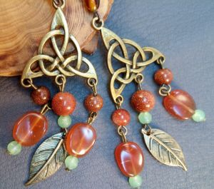 """Earrings Сережки """"Східні"""""""