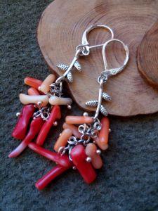 Красные серьги Коралловые