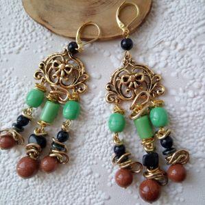 """Earrings Сережки """"Східно-авантюринові"""""""