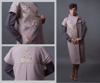 Комплект-пальто и платье