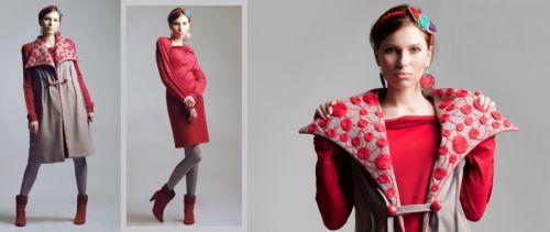 """Комплект """"Каруж"""": платье + удлиненная камизоля / пальто"""