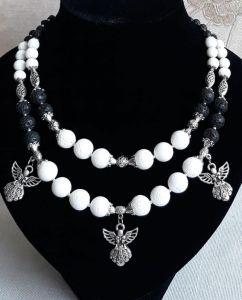 """Ожерелье из кораллов Ожерелье """"Оберег ангелов"""""""