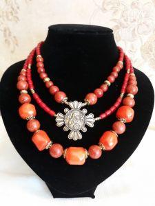 Ожерелье из кораллов Красные кораллы