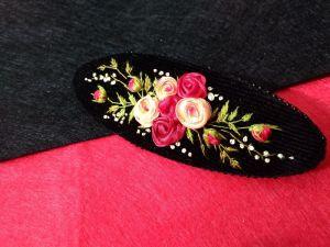 Заколки ручної роботи Букет троянд