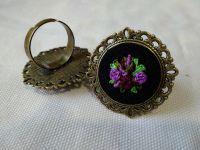 """Кольцо """"сиреневые цветы"""""""