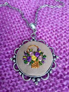 Кулон Корзина с цветами