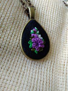Кулоны ручной работы Кулон Фиолетовая капля