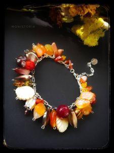 Браслеты из сардоникса Осенний браслет