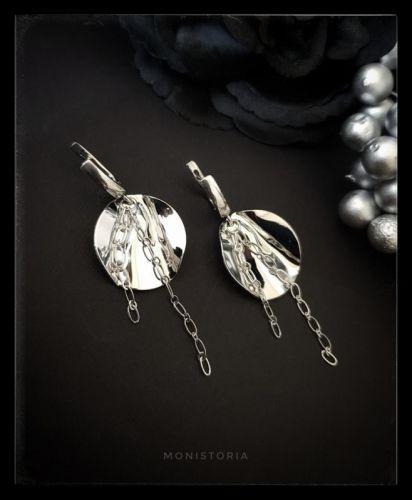 Сережки з м'ятого металу