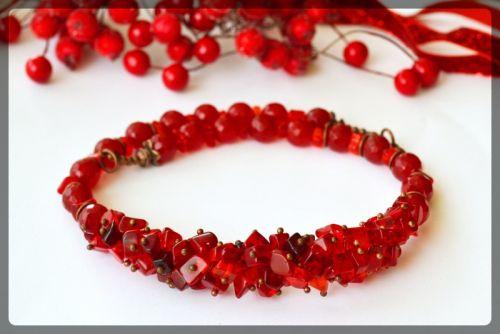 Ожерелье с сардоникса и агата
