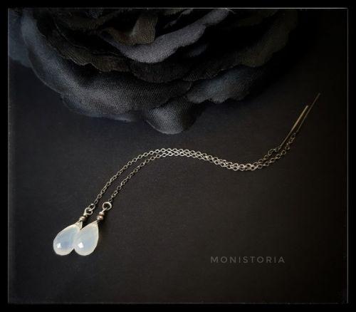 Серебряные серьги с халцедоном - изображение 1