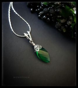Кулоны ручной работы Кулон с зеленым кварцем (без цепочки)