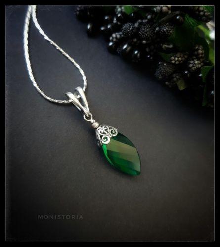 Кулон с зеленым кварцем (без цепочки) - изображение 1